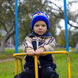 Stock Photo: Boy swinging