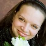 Beautiful smiling young woman — Stock Photo