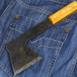 Rusty hatchet — Stock Photo