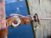 Rusty metal and wood — Stock Photo