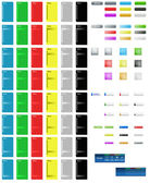 Colorful Buttons for Web Pages — Stock Photo