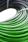 Hank of a green network cable — Stock Photo