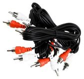 Audio connector cables — Stock Photo