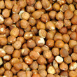 Closeup Shelled Hazelnuts - Stock Photo