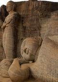 Reclining Buddha and Chief Disciple — Stock Photo