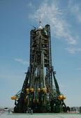 Soyuz Spaceship On The Launch Pad — Stock Photo