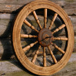 Stock Photo: Spinning Wheel And Its Shadow