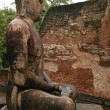 Statue of Seated Buddha in Vatadage Temp — Foto de Stock