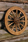Spinning Wheel And Its Shadow — Stock Photo