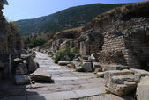 Curetes Street in Ephesus — Foto Stock