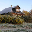 House In The Russian Village in The Late — Stock Photo