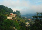 Foggy View of the town of Kandy in Sri L — Stock Photo