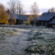 Stock Photo: RussiVillage After First Frosty Night