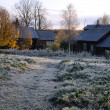 Russian Village After First Frosty Night - Stock Photo