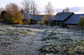 Russian Village After First Frosty Night — Stock Photo