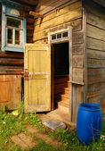 Russian Village House Entrance — Stock Photo