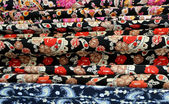 Variety Of Oriental Fabrics — Stock Photo