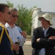 Prince Philippe of Belgium at Baikonur — Stock Photo