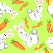 Royalty-Free Stock ベクターイメージ: Seamless hare ornament in color 72