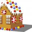 Royalty-Free Stock Imagem Vetorial: Gingerbread house color 01