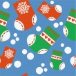 Royalty-Free Stock Vektorgrafik: Seamless xmas stocking ornament 64