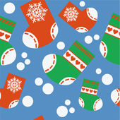 Seamless xmas stocking ornament 64 — Stock Vector