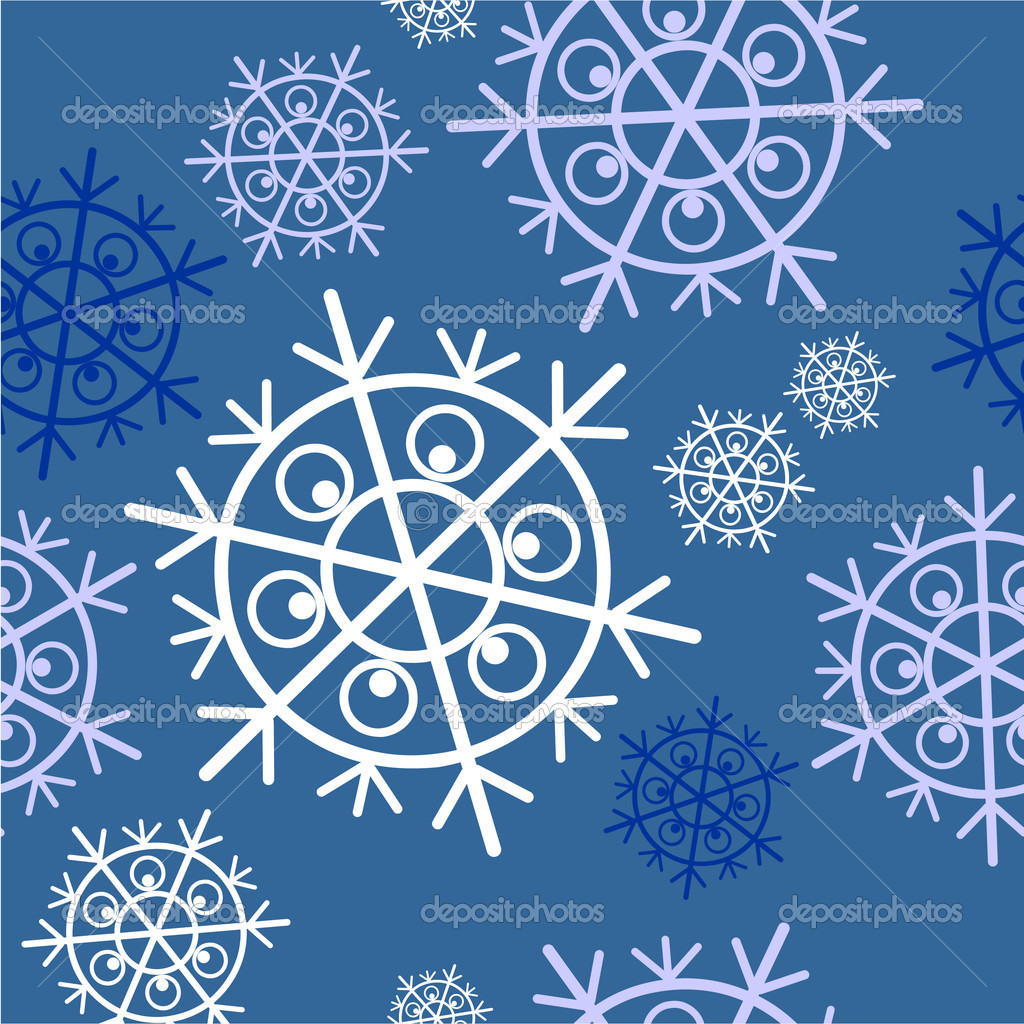 Vector. Seamless ornament snowflake  in color  34 — Stock Vector #1016409
