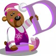 Royalty-Free Stock Imagen vectorial: Smile bear with alphabet letter B  in co