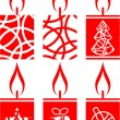 Royalty-Free Stock Imagen vectorial: Candle set in color 01