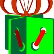 Royalty-Free Stock Imagen vectorial: Holiday giftbox in color 01