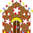 Royalty-Free Stock Vector Image: Gingerbread house color 02