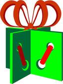 Urlaub Geschenkschachtel in Farbe 01 — Stockvektor
