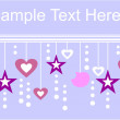 Royalty-Free Stock 矢量图片: Holiday textspace in color 01