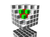 Image. 3d cube 05 — Stock Photo
