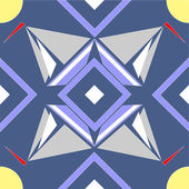 Seamless ornament in color 08 — Vecteur