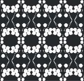 Adorno negro 01 — Vector de stock
