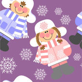 114 の色でシームレスのクリスマス飾り — ストックベクタ