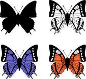Motyl zestaw 04 — Wektor stockowy