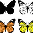 Butterfly set 10 — Image vectorielle