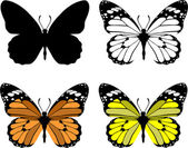 Butterfly set 10 — Stock Vector