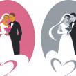 Wedding couple 01 — Stock Vector