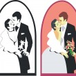 Stock Vector: Wedding couple 02