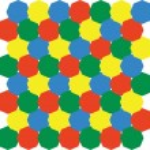 Octagonal 3d pattern 01 — Stock Vector