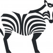 Royalty-Free Stock Vector Image: Zebra black silhouette 01