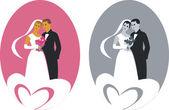 Wedding couple 01 — Stock Vector