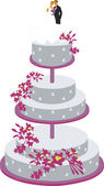 Cake for wedding color 01 — Stock Vector