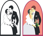 Wedding couple 02 — Stock Vector