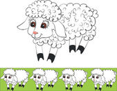 Lamb color 01 — Stock Vector