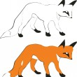 Fox silhouette 01 - Stock Vector