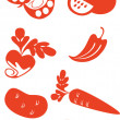 Royalty-Free Stock Vector Image: Fruit set 02